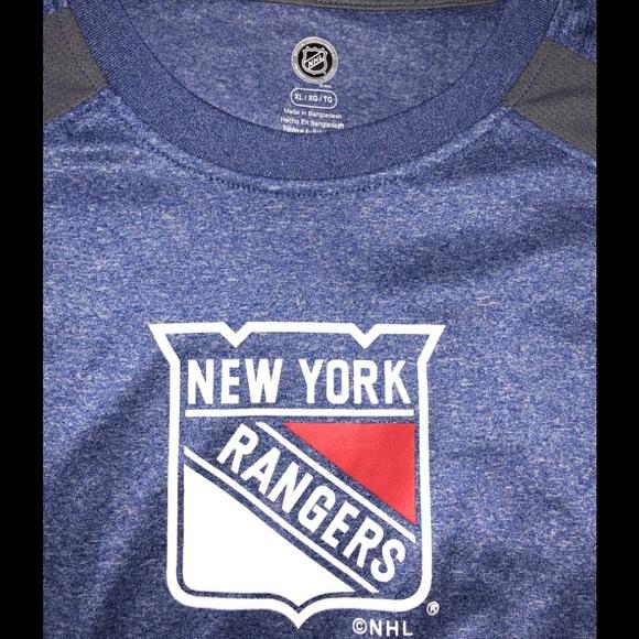 1aaeeac98 New York Rangers NHL dri-fit style T-shirt size XL